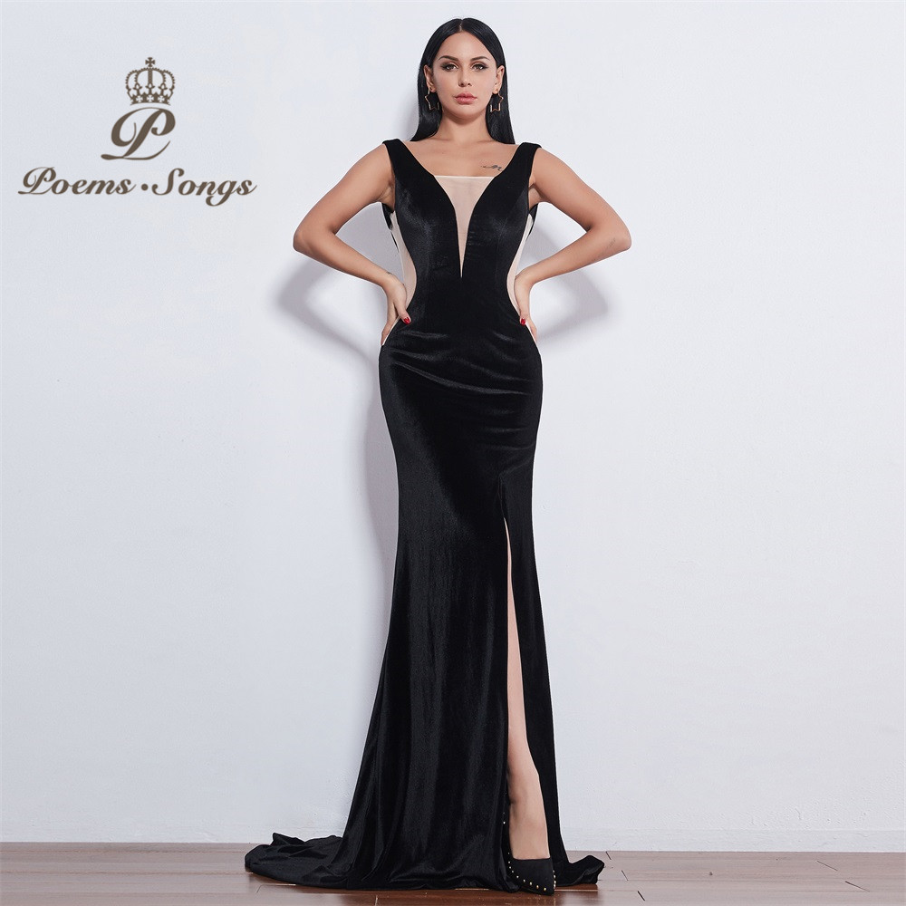 Poems Songs New style sexy impressive good-looking attractive Evening Dress prom gowns vestido de festa Formal Party dress image