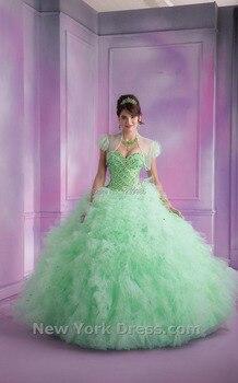 e524b48dca Color Quinceañera vestidos 2018 vestido de Organza de novia de cristal dulce  16 vestido dulce 15 vestidos de 15 años