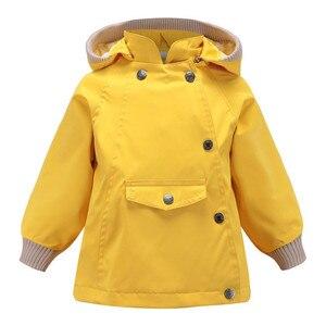 Image 3 - Abrigos y abrigos cálidos a prueba de viento y lluvia para niñas, chaquetas a prueba de viento con cuello para niños, chaqueta informal para exteriores para niños, Primavera