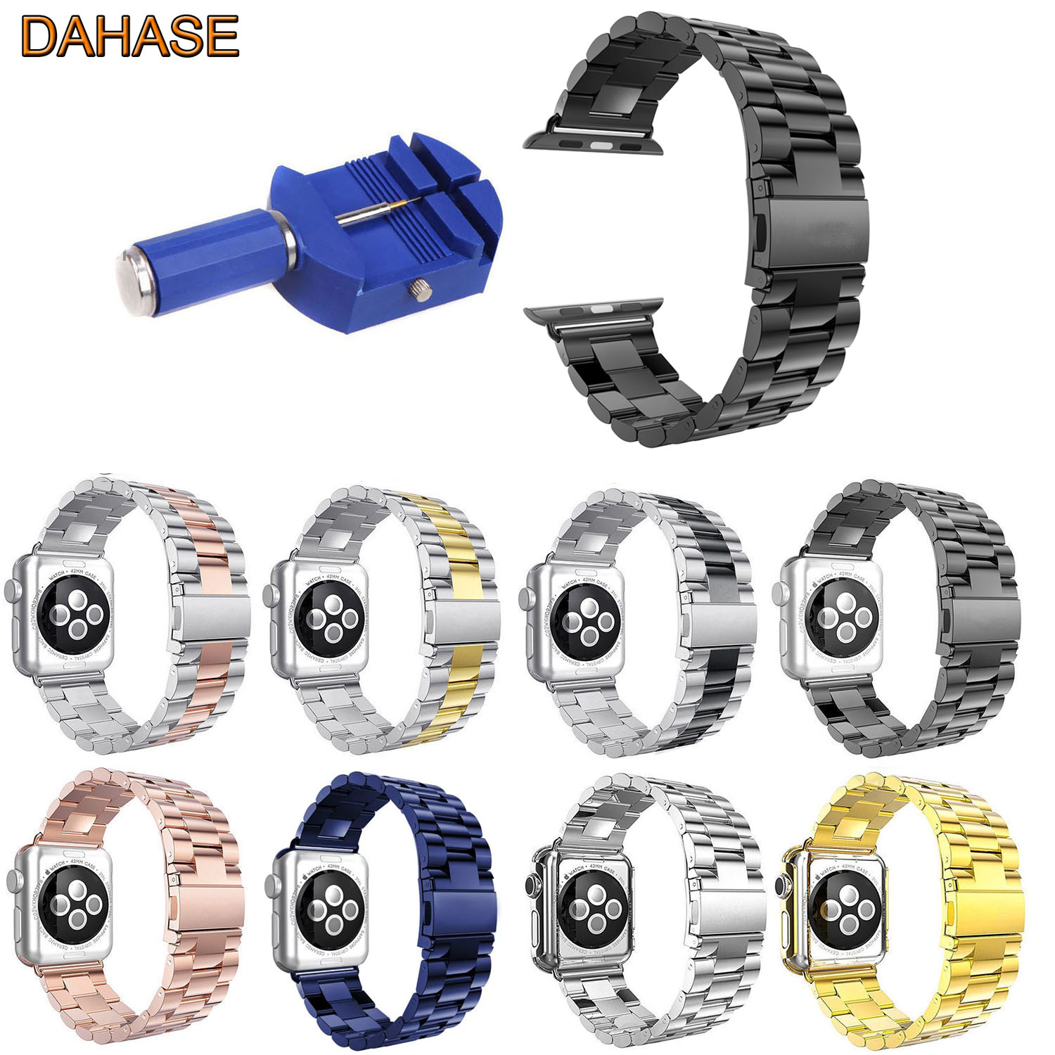 DAHASE Stainless Steel Replacement Wristband for font b Apple b font font b Watch b font