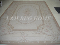 Free shipping 11.95'x18.35' Aubusson rugs Beige medallian European aubusson carpets hand weave rug for home decoration