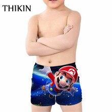 THIKIN Games Super Mario Print Swim Trunks for Kids Boys Dragon Ball Children Swimming Suits Bathing Sports Swimwear Shorts