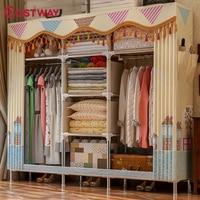 COSTWAY Спальня печати ткань шкафы ткань хранения Экономия пространства шкафчик шкаф всякая пыль шкаф для хранения W0349
