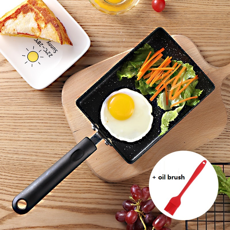 15*19cm Non-stick Omelette Tamagoyaki Frying Pan Rectangle Aluminium Egg Pancake Griddles Cooking Pot For Gas Induction Cooker