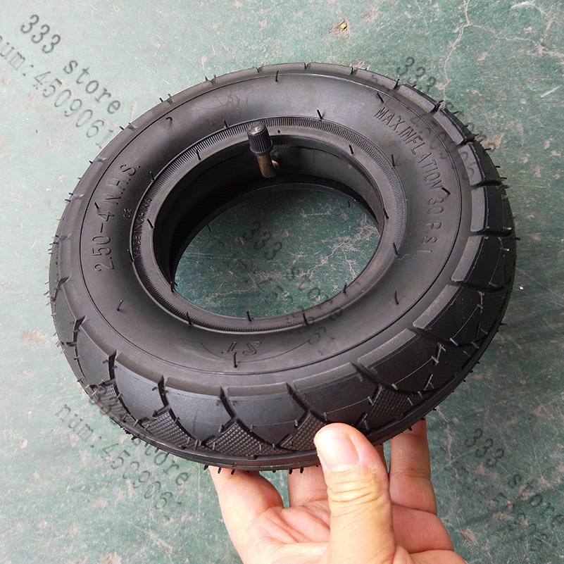 250-4 NEW TYRE WITH INNER TUBE 2.50-4 TYRE for trolleys
