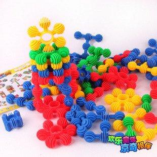 Candice guo! Զվարճալի խաղալիք գույնզգույն փափուկ պլաստիկ բլոկներ փոքր արևի ձևի մանկական DIY ուսումնական խաղալիք G15