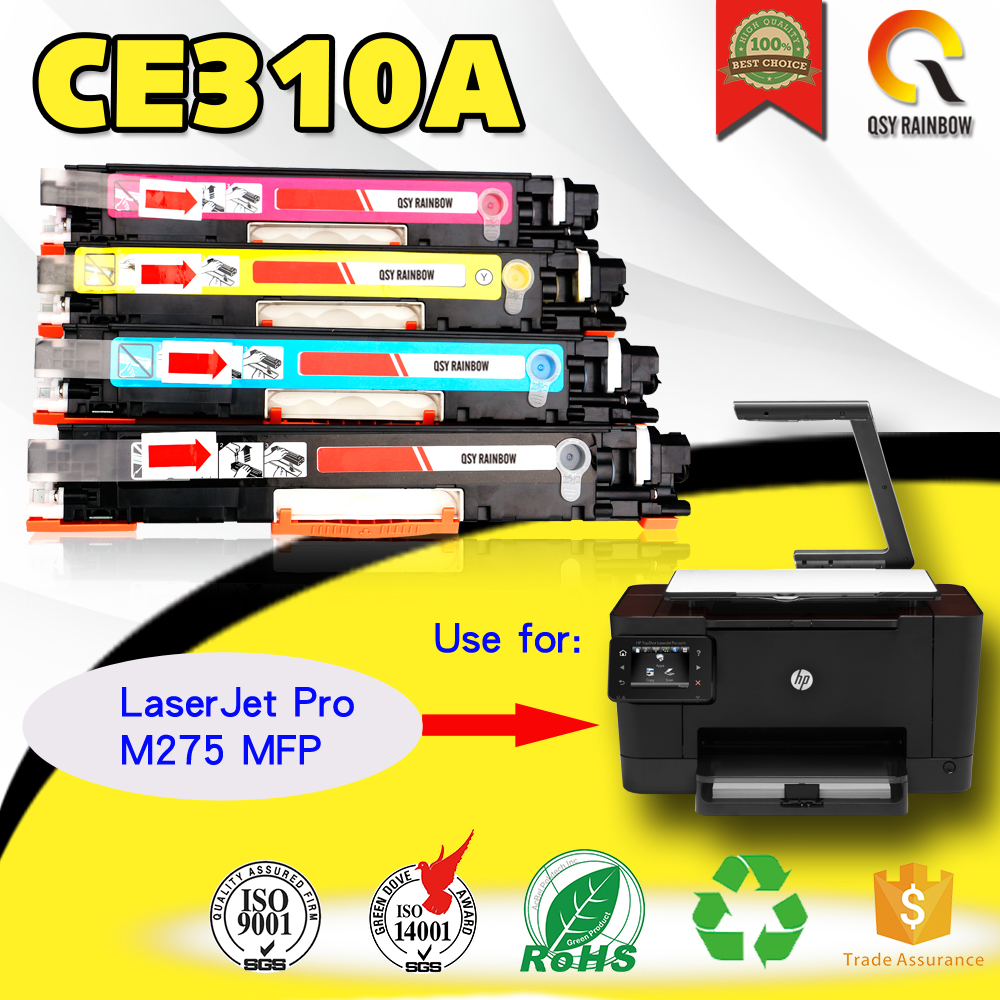4 pcs C M Y BK Color toner cartridge for HP TopShot LaserJet Pro M275 MFP high compatible for CE310A CE311A CE312A CE313A low price generic compatible toner cartridge replacement for samsung clp 510 clp510d7k clp510d5c clp510d5m clp510d5y bk c m y