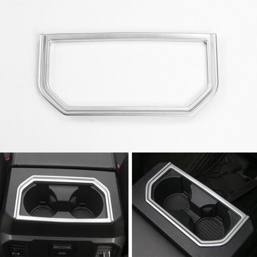 YAQUICKA pour Ford F150 2016 2017 accoudoir Central de voiture boîte de rangement support de verre à l'eau panneau cadre garniture style bâches de voiture ABS