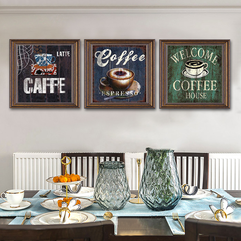 Us 4 19 40 Off Vintage Coffee Canvas Painting Bar Cafe Poster Print Wall Art Printings Pictures Paintings For Living Room Kitchen Home Decor In