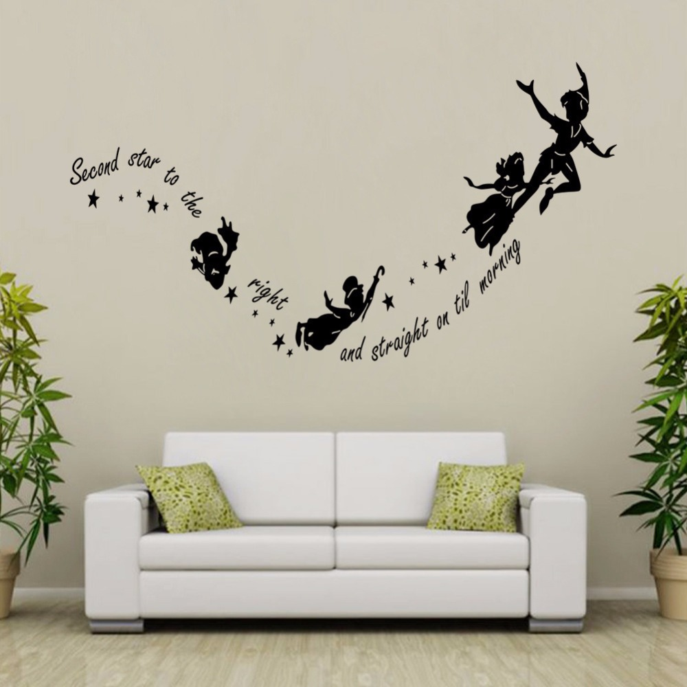 Aliexpress.com : Buy Black And White Peter Pan Flying