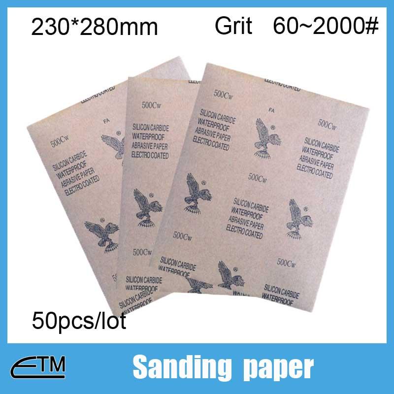 50 vnt švitrinis popierius agato papuošalams akmens medžio metalo - Abrazyviniai įrankiai - Nuotrauka 1