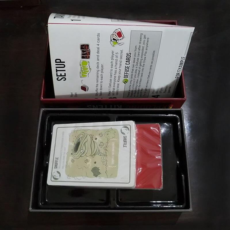 Juegos de mesa juego de cartas de explosión para gatito edición Original con caja roja EDICIÓN DE NSFW con caja negra tarjetas de fiesta familiares juego