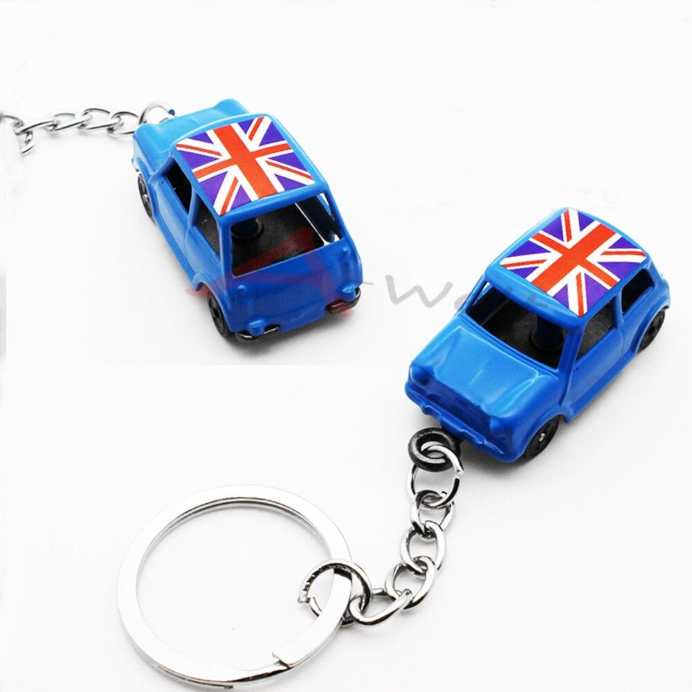 1 pc Azul 1  60 Clássico Union Jack MINI Cooper S R56 F55 F56 R60 clubman  countryman Diecast Chave Anel Chave de Cadeia Keychain em Chave Anéis de ... d58593c3f3