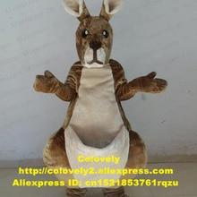 Коричневый костюм талисмана кенгуру Roo для взрослых, Герой мультфильма, нарядный костюм с платьем, руки были в элегантной позе, огорченный вид zz4108