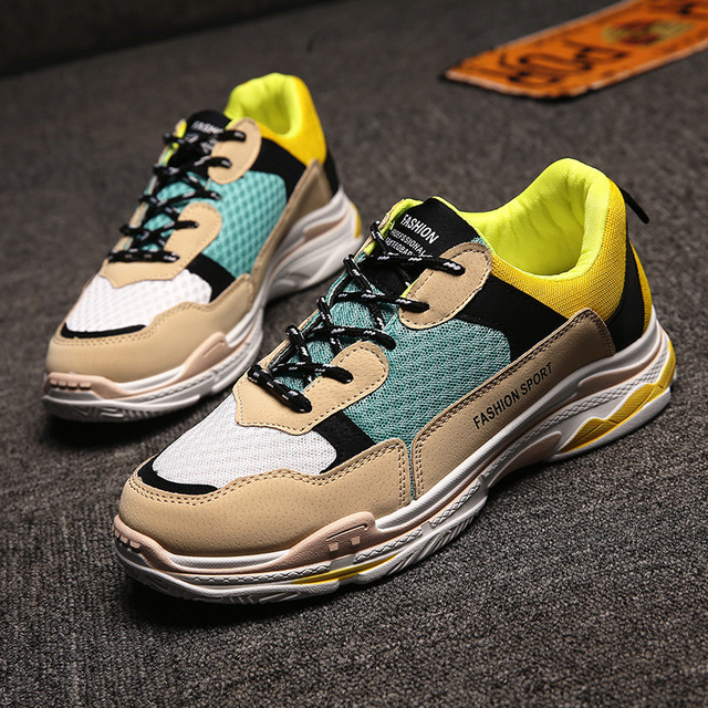 eaf6213e6 Spring Autumn Men s Boy s Casuals Colorful Instagram Hot Fashion Sneakers  Trend Mesh Height Increasing Shoes 3 Colors 39-44