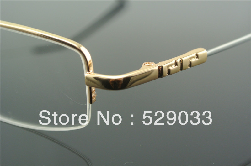 aliexpresscom buy 6836 half rim clear lens flexible temple eyeglass frames glasses mens women gold eyeglasses optical rx from reliable glasses frames