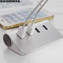 USB Hub 4-Port USB 3.0 Portable En Aluminium Hub 4 USB Stations De Recharge Chargeur Dock Pour iMac MacBook MacBook