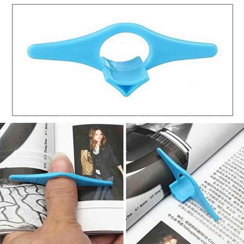 1 قطع multifunction الإبهام كتاب الصفحة حامل علامة البنصر القراءة مساعد كتاب العلامة المرجعية البلاستيكية مريحة