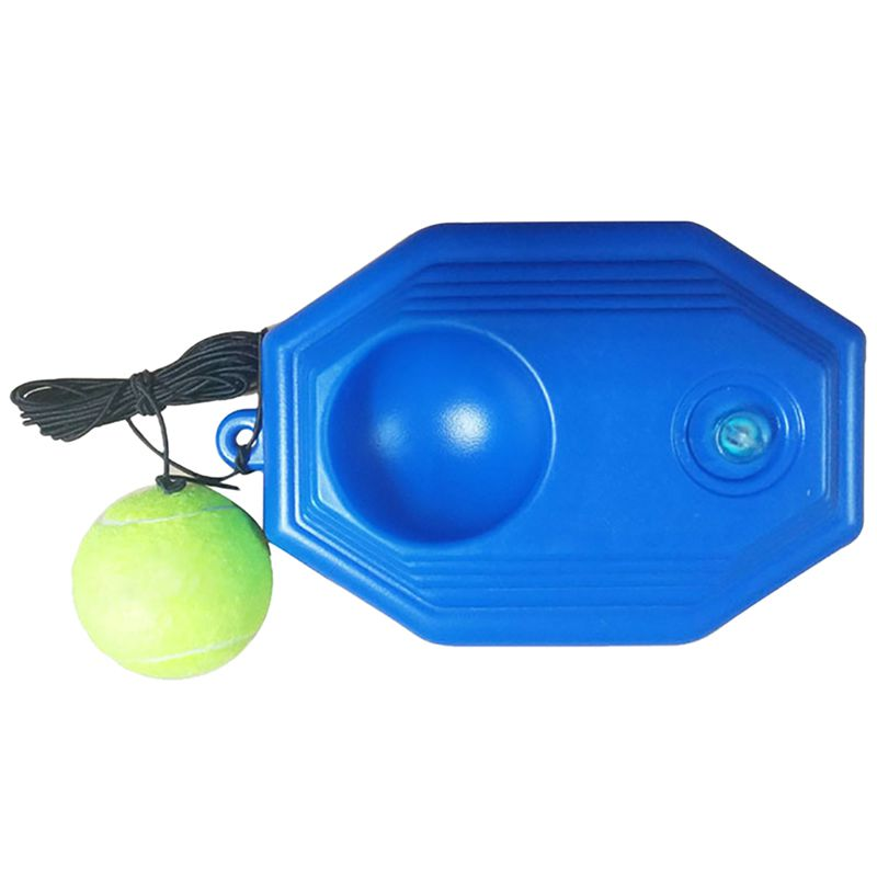 Tennis Ball Trainer Self-study Baseboard Player Training Aids Practice Tool With Elastic Rope Base Training Device