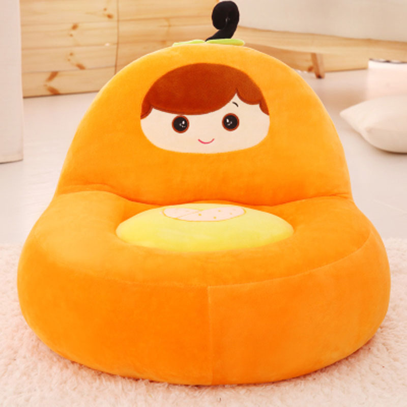Children's Small Sofa Baby Stool Lazy Seat Tatami Cartoon Small peppers, bananas, oranges, apples, watermelons 17 styles shoe stool solid wood fabric creative children small chair sofa round stool small wooden bench 30 30 27cm 32 32 27cm