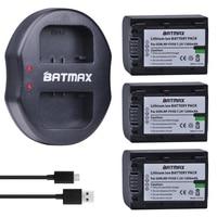 3PCS NP FV50 NP FV50 Batteries 1200mAh Dual Charger For Sony PJ10E PJ30E PJ50E TD10E VG10E