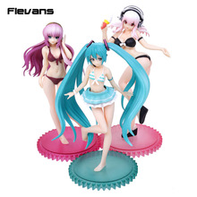 S-style Hatsune Miku / Megurine Luka / Super Sonico Swimsuit Ver. 1/12 Scale PVC Painted Figure Anime Sexy Collectible Toy 15cm