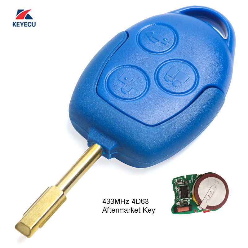 KEYECU Replacement Remote Key Fob 3 Button 434MHz 4D63 for Ford Transit WM VM 2006 2014