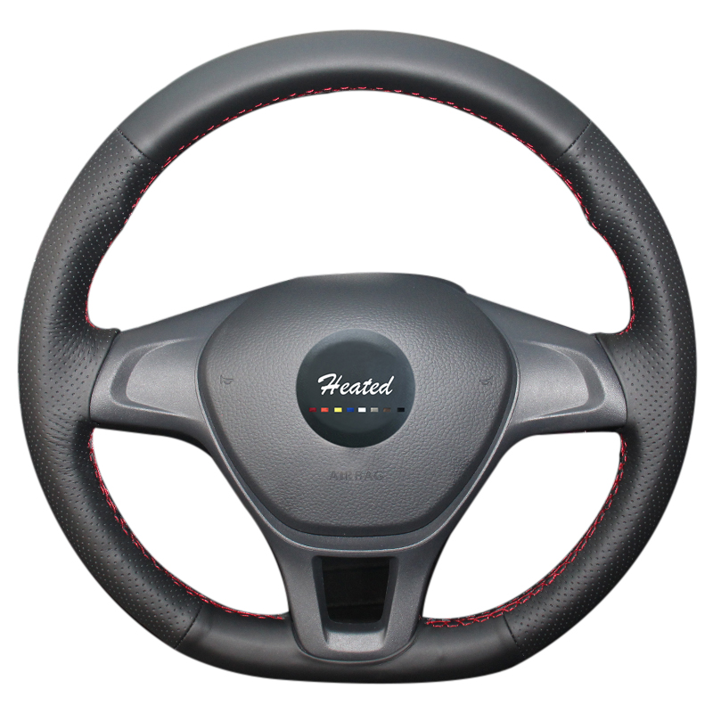 Steering Wheel Cover for Volkswagen VW Golf 7 without original leather Microfiber leather braid on the steering wheel
