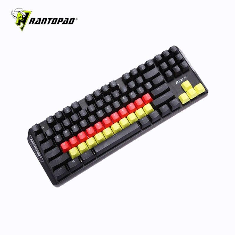 Rantopad Gaming Mechanical Keyboard Keycap Color Keycap 37 Key Rainbow Keycap Computer Highlight Scratch Resistant Keycap Gift