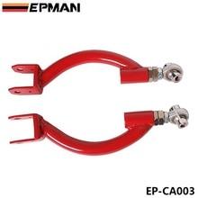 Задний регулируемый верхний развал рычаг управления комплект красный для 95-98 NISSAN S14 SKYLINE GTR R33 EP-CA003