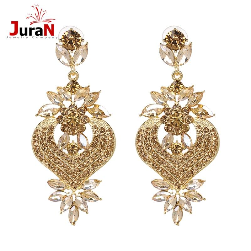 609326259a21 JURAN Vintage grande de diamantes de imitación de declaración cuelgan gota  pendientes 2019 nueva llegada de moda pendientes de cristal de joyería de  la boda