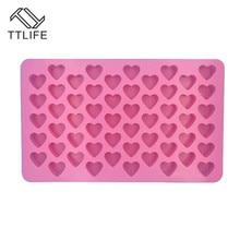 TTLIFE Heart Silicone mold fondant cake decorating tools chocolate gumpaste wedding 3d silicone molds
