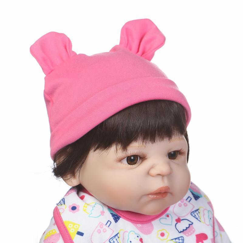 Doll Baby D179 57CM 22inch NPK Doll Bebe Reborn Dolls Girl Lifelike Silicone Reborn Doll Fashion Boy Newborn Reborn Babies warkings reborn