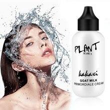 Идеальная основа для макияжа, крем с козьим молоком, восстанавливающая полноэкранная профессиональная основа для макияжа, осветляющая тон ...