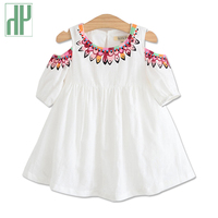 HH 2 7years Toddler Princess Dress Girl Summer Dress 2017 Korean Kids Wear Floral Print Kids