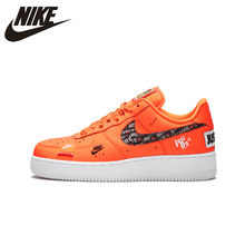Creative Just do it Nike Air Force 1 Mid White Black Orange AQ8650 100 Women's Men's Casual Shoes Sneakers aO4606 001A