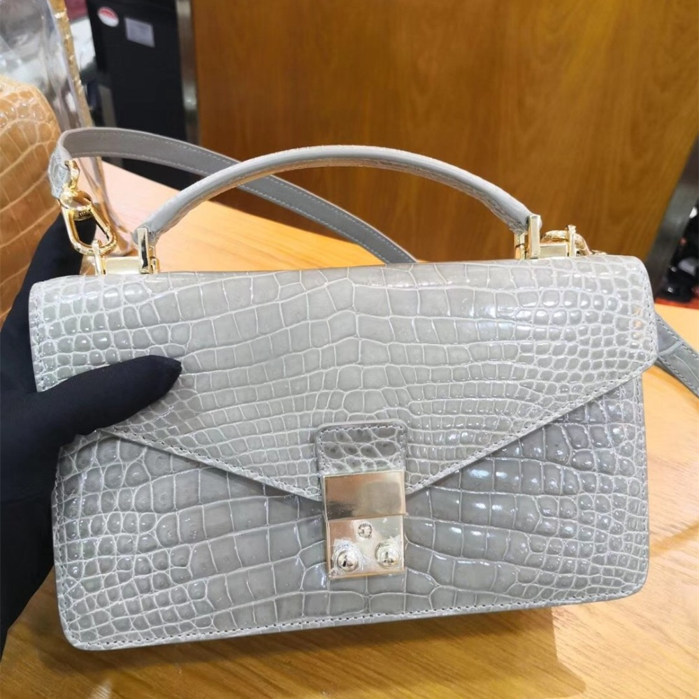 real crocodile handbags women shoulder bags custom-made lgloiv real crocodile luxury handbags women bags designer with logo satchel custom made 2018