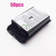 [50 pc/lote] alta qualidade pacote de bateria capa escudo caso kit para xbox 360 controlador sem fio reparação parte