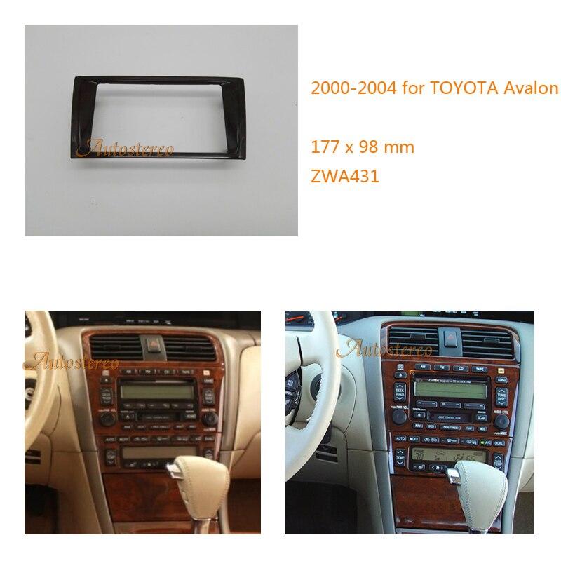 Doppel-din Auto Audio Radio Fascia Facia Panel Adapte Für Toyota Avalon 2000-2004