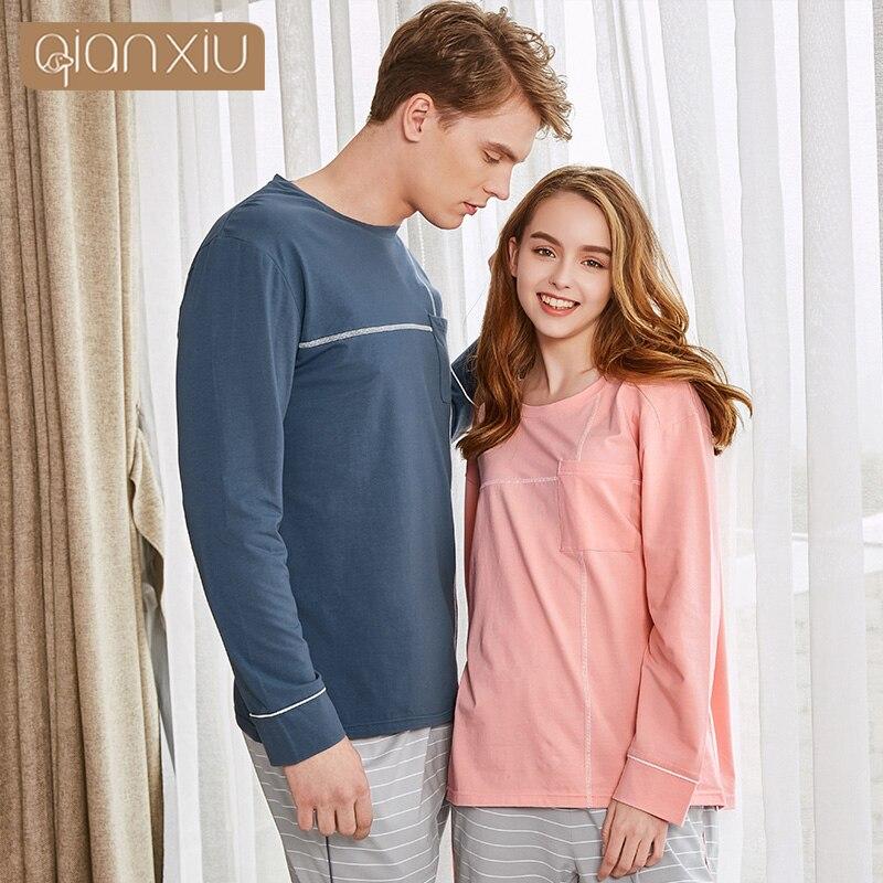 2998047799 Unterwäsche & Schlafanzug Offizielle Website Qianxiu Paare Stil Frühjahr &  Herbst Stil Männer Pyjamas Plus Größe Nachthemd Baumwolle Für Nacht 18129