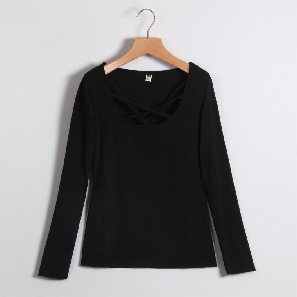 HTB1BL2JMVXXXXaDXXXXq6xXFXXXq - Autumn T Shirt Women Long Sleeve Slim Fit Solid