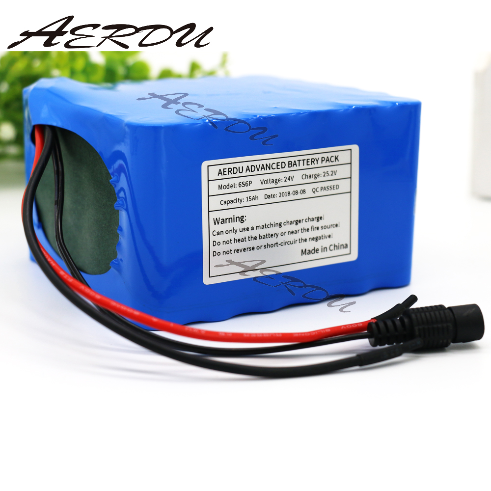 AERDU 6S6P 24V 15Ah 25.2V lithium battery pack batteries for electric motor bicycle ebike scooter wheelchair cropper with BMS 7s3p 24v 10 5ah 29 4v ncr18650ga li ion battery pack lithium batteries for small electric motor bicycle ebike scooter with bms