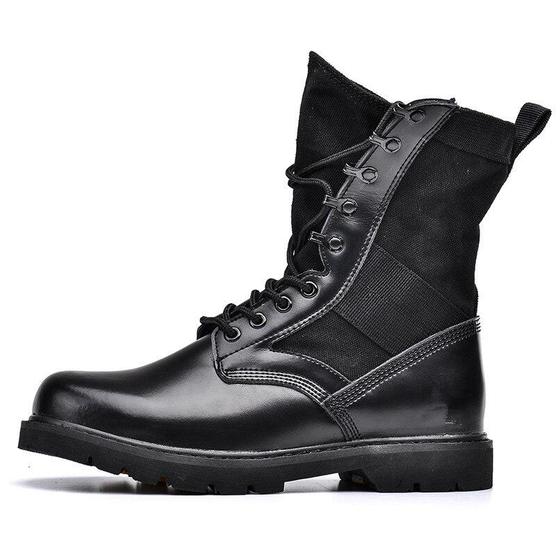Hommes Chaussures Polaire Sortie L'armée Fluff noir Pour Tactique Bottes Forces Des D'infanterie Militaires Été Boots Add De Spéciales E9WHID2