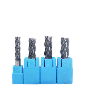 Image 1 - 1PC End Mill 14mm 16mm 18mm 20mm Milling Cutter HRC50 4 Flute 3T Straight Shank Tungsten Solid Carbide cnc Flat Mill for Metal