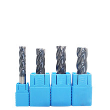 1PC Fresa 14mm 16mm 18mm 20mm HRC50 4 3T Haste Reta Flauta Fresa de Tungstênio Carboneto Sólido cnc Moinho Plana para o Metal