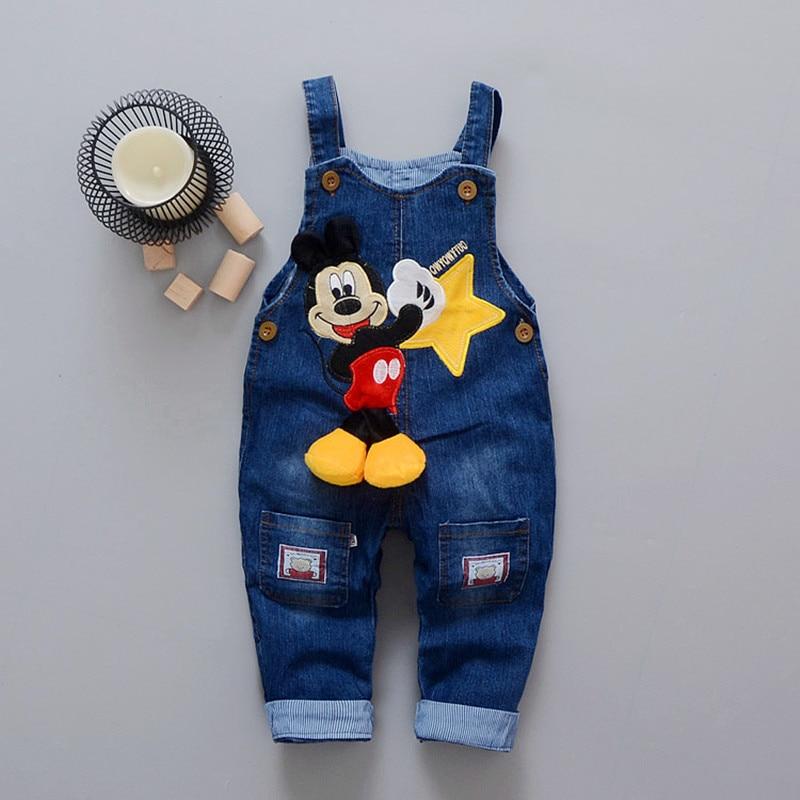 Одежда для маленьких мальчиков с мультяшным рисунком, джинсовые брюки с эластичной талией, повседневные штаны для малышей с принтом, брюки ...