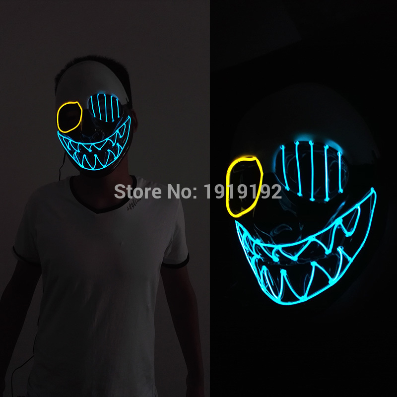 HTB1BL2aRVXXXXXxapXXq6xXFXXXJ - Mask Light Up Neon LED Mask For Halloween Party Cosplay Mask PTC 260