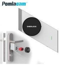 S2 серебристый/черный Шерлок замок S2 обновление Bluetooth телефон приложение управления Smart lock Keyless Поддержка удаленного электронный ключ двери замок