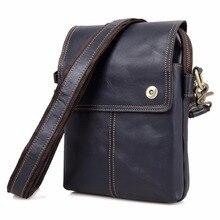JMD Vintage Echtem Leder Messenger Bags Brown Cross Body Schultertasche Männer 1006 Karat