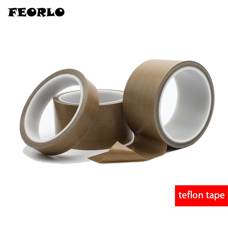 FEORLO 10 Meter 0.13mm 10mm 13mm 15mm 19mm 20mm 25mm High Temperature Adhesive Tape Insulated Teflon Tape